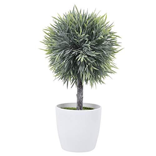DOITOOL Mini plantas artificiales realistas en maceta, planta bonsái pequeña artificial de imitación verde con maceta para el escritorio, decoración para la casa al cubierto