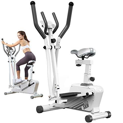 ATGTAOS Máquinas Elípticas Bicicleta de Ejercicios, Máquina de Entrenamiento Elíptica con Monitor LCD y Resistencia de 16 Niveles Capacidad Máxima de Peso Suave y Silenciosa 350 Libras