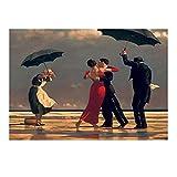 Amymami Cuadro de Arte de Pared Edward Hopper Dancing Carteles de Arte Moderno e Impresiones Cuadro de Arte de Pared decoración del hogar 60x90cm