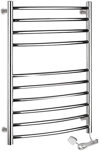 TUHFG Radiador toallero para bañera, 10 bar, acero inoxidable 304, tubo redondo, recto, secado en rack, inodoro, decoración del hogar, baño, ducha, mejora (tamaño: Plug in)