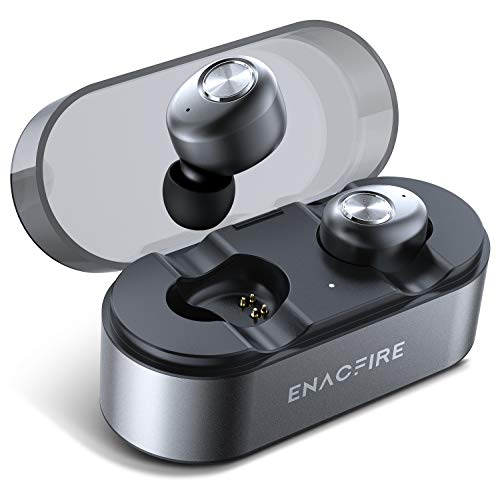 ENACFIRE E18 Pro Bluetooth 5.0 Wireless Earbuds with Wireless Charging Case 3D Stereo Sound Deep Bass IPX7 Waterproof Wireless Headphones, Built-in Microphone