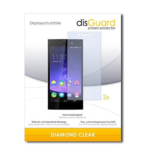 disGuard 2 x Bildschirmschutzfolie Wiko Highway Star Schutzfolie Folie DiamondClear unsichtbar
