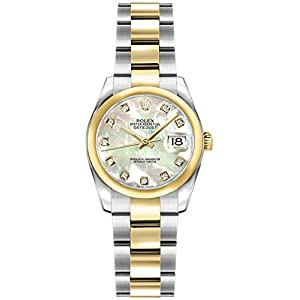 Fashion Shopping Women's Rolex Lady-Datejust 26 Diamond Mother of Pearl Dial Luxury Watch Ref.