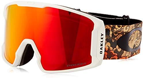 Oakley Line Miner gafas de sol, Multicolor (Kazu Sig Kamikazu Derma/Prizm Snow Torch Iridium), Einheitsgröße Unisex adulto