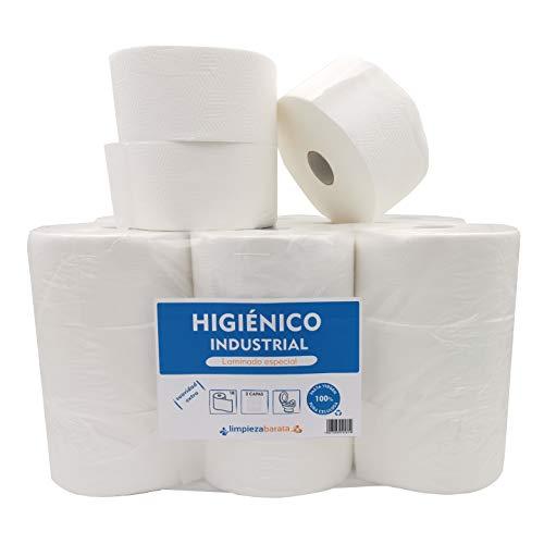 Papel Higienico Industrial Pasta Laminado - 18 rollos