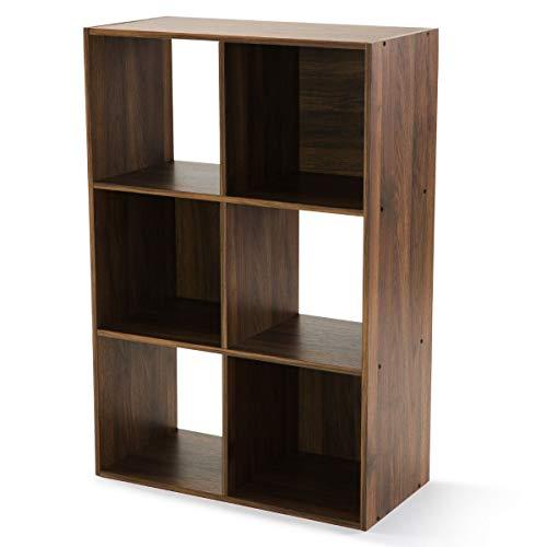 Mainstay 6-Cube Storage Organizer, Canyon Walnut