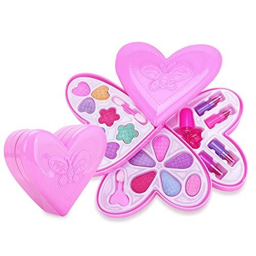 Juego de maquillaje infantil de 4 capas, lavable, juego de maquillaje, juguete, maquillaje para niños, lavable, para niños, neceser de maquillaje, juguete, juego de maquillaje, maletín de cosmética