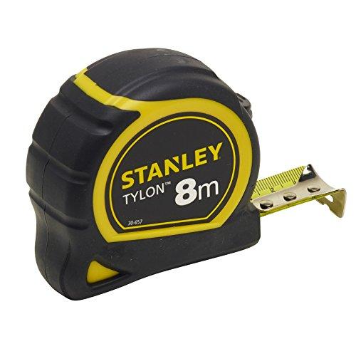 Stanley Bandmass Tylon (8 m, Tylon-Polymer Schutzschicht, verschiebbarer Endhaken, Kunststoffgehäuse) 0-30-657