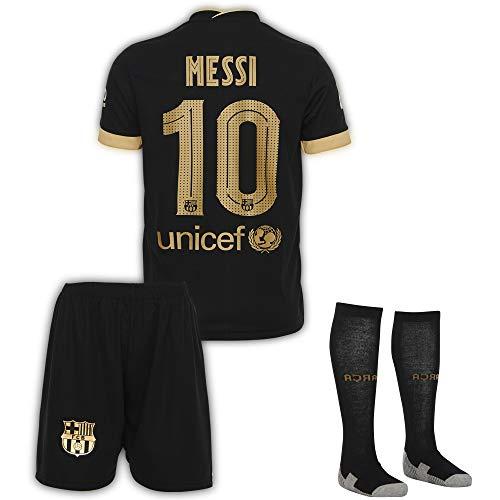 AMD SPORTS Barcelona 2019-20#10 Messi Away Maillots de Football pour Enfants avec des Chaussettes Et des Shorts,(Tailles Enfants 9-10 Ans)