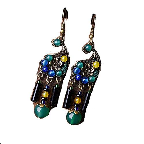 WML Neue Originelle Ohrringe der antiken Art der Nationalen Artohrringe Arbeiten die DIY Ohrringe der Art und Weisefrauen Um,Wie Zeigen,Einheitsgröße