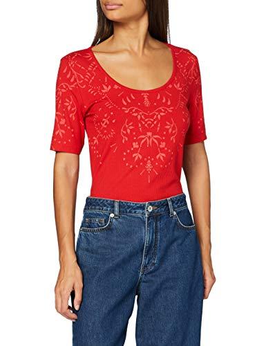 Desigual TS_Lyon Camiseta, Rojo, M para Mujer