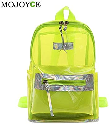 Women PVC Transparent Jelly Small Backpacks Girls Mini Clear Backpack 2018 Summer Fashion Students Back Pack