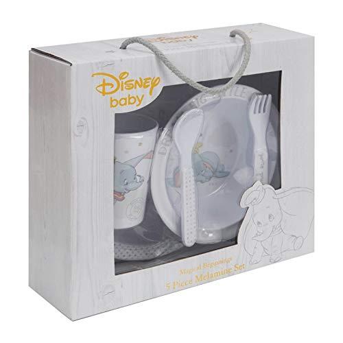 Magical Beginnings DI520 Service de table en mélamine motif Dumbo - 5 pièces
