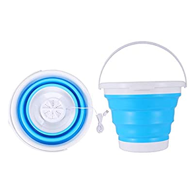 4YANG Portable Mini Turbo Washing Machine Foldable USB Powered Ultrasonic Washer for Travel Laundry Camping Home Business Trip and Children's Laundry save water and power (2 IN 1)