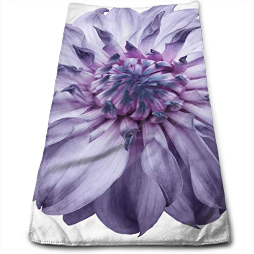 Dahlia Flower Light Purple Flower Isolated On A White Background No Shadows with Clipping Path Close Up Nature Hand Towels Multipurpose Use for Sports, Travel, Fitness, Yoga, Gym