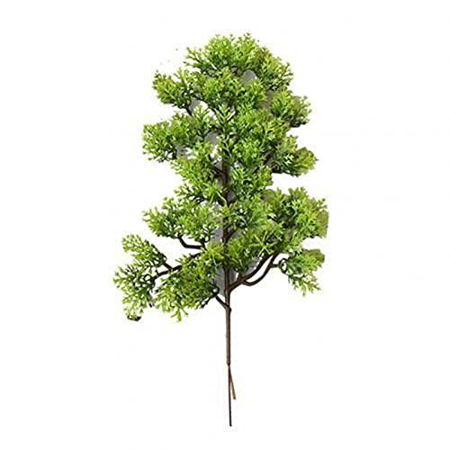 LJGFH Künstliche Pflanze 1 stück Kunststoff gefälschte künstliche Kiefer Cypress Pflanze Bonsai Garten Home Office Dekoration Rose künstliche Pflanzen lebendige Farbe dauerhaft (Color : Green)