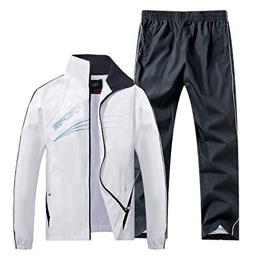 Sillictorスポーツウェアジャージ上下セット男女兼用スポーツジャージアウトドアパーカー+パンツ通気UVカット555wh-S