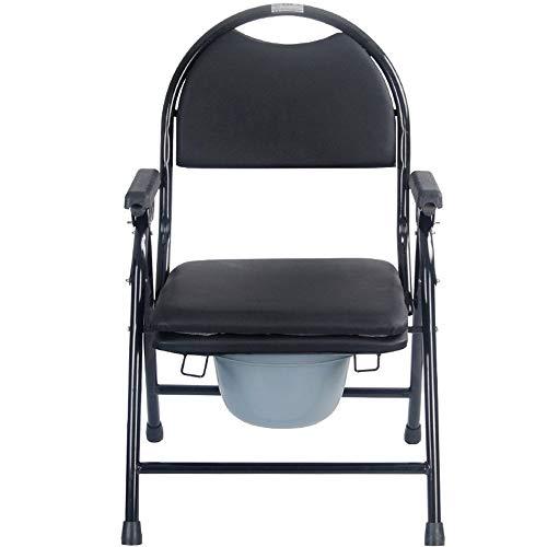 Z-SEAT Tragbarer Duschstuhl mit Toilettensitz und Bezug, für ältere Menschen, Schwangere Frauen, behindertengerechte Toilettensitze