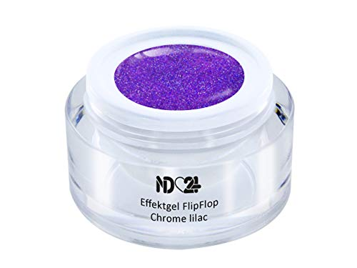 Uv Led Effekt-Gel Flip Flop Chrome Lilac - Lila - Studio Qualität - Made In Germany - 5ml
