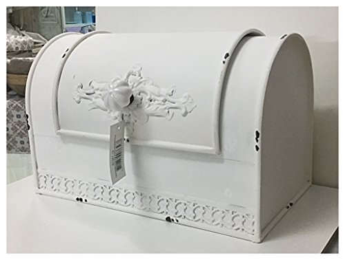 Scatola Porta Pane in Ferro decoro Elegante 18x29x17cm