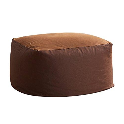 ビーズクッション 人をダメにするソファ 洗えるカバー ビーズソファ 極小ビーズ使用 Lサイズ もちもち 疲労を軽減 キューブチェア 昼寝 新生活 応援 ブラウン (VK Living)