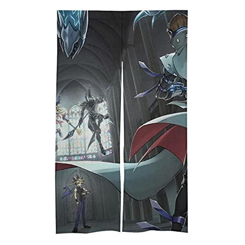 HCMEYTB Yu-Gi-Oh Tenda porta - Usura tipo di asta tende oscuranti termoisolanti tende/tende per porte per consumatori e decorazione commerciale.