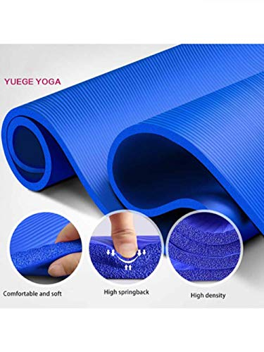 XCC 183 * 61 * 1,5 cm Yoga-Matten mit Body Line Dick Hot Yoga Pilates Mats Gymnastik Balance Pads Fitness-Matten Anti-Rutsch-Tanz-Pads Isomatte für Camping, Wandern, Reisen Strand,Blau