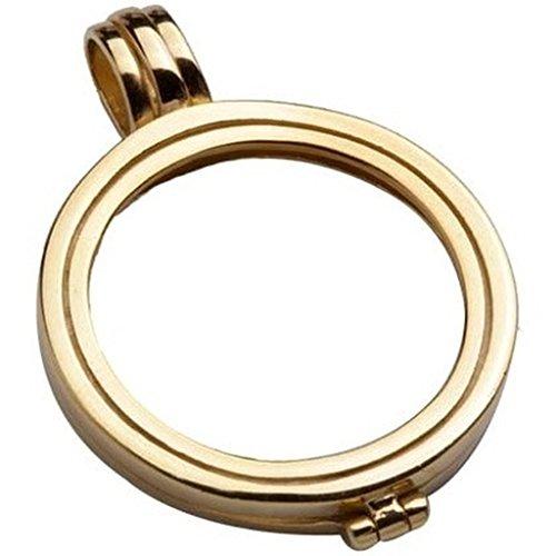 Quoin Damen-Münzfassung Rahmen für Münzen Größe: M Vergoldet teilvergoldet - QHO-05M-G