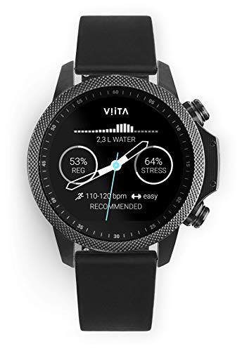 Viita Watch Active HRV Adventure mit Silikon-Armband, schwarz/schwarz