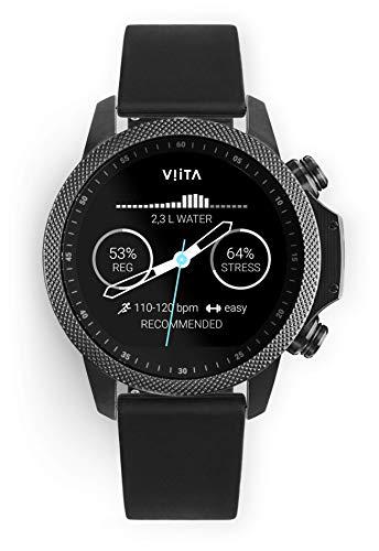 Viita Watch Active HRV Adventure met siliconen armband, zwart/zwart