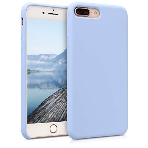 kwmobile Funda Compatible con Apple iPhone 7 Plus / 8 Plus - Carcasa de TPU para móvil - Cover Trasero en Azul Claro
