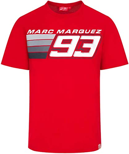 MM93 Offizielles MotoGP Stripe 93 T-Shirt - Rot - M