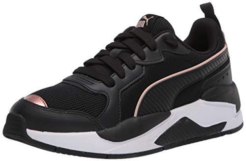 PUMA - Sneaker da donna X-ray, nero (Puma Black-puma Black-Rose Gold), 39 EU