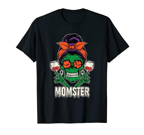 Moo Sucio Vino Bebiendo Mam Calavera Mam Camiseta