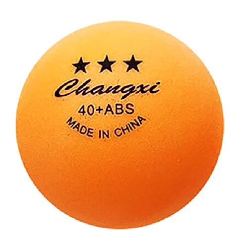 Bordtennisboll, orange bordtennisbollar, bulk ABS ping pong boll 3-stjärna 40+ standardstorlek träningsboll för spelmatcher – för inomhus/utomhus pingisbord