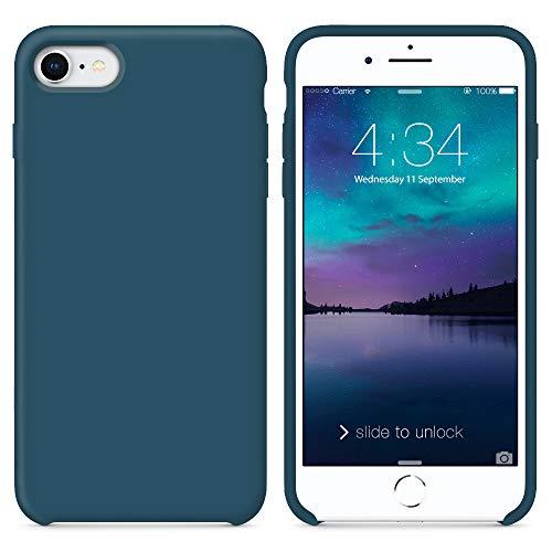 SURPHY iPhone SE 2 (2020) Hülle, iPhone 8 Hülle, iPhone 7 Hülle, Silikon schutzschale vor Stürzen & Stößen Silikon Handyhülle für iPhone 7 iPhone 8 Schutzhülle 4,7 Zoll, Kosmosblau