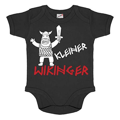 Baby Body Kleiner Wikinger Germane Mitteleuropa Skandinavien Germanen #15411, Größe:3-6 Monate, Farbe:Schwarz