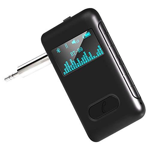 Tihokile Récepteur Bluetooth 5.0, Adaptateur Bluetooth Jack avec Appel Mains Libres, Récepteur Audio Bluetooth sans Fil pour Voiture, d'Anciens Haut-Parleurs et des Ecouteurs filaires