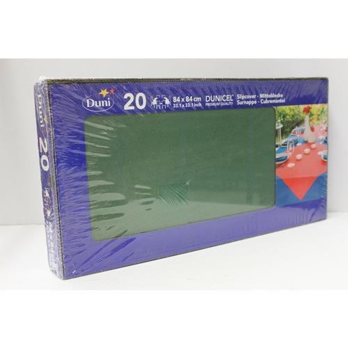 Duni 222556_(1) Dunicel Schonbezüge, 84 cm x 84 cm, dunkelgrün (20 Stück)