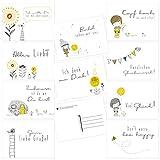 Juego de 20 tarjetas postales diferentes con refranes y citas – Idea de regalo para amistad, novia, amor, felicitación, cumpleaños, valor, motivación, buena recuperación, DIN A6
