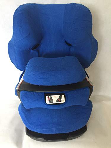Sommerbezug Schonbezug für Cybex Pallas und Pallas 2-Fix Frottee 100% Baumwolle blau