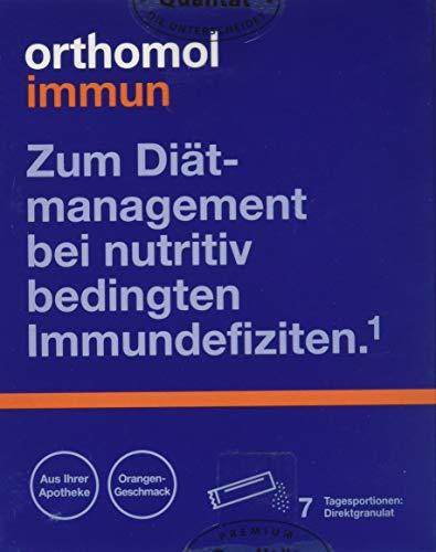 Orthomol immun 7er Direktgranulat Orange - Vitamine & Spurenelemente Komplex - Immunsystem Unterstützung