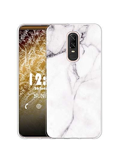 Sunrive Kompatibel mit Meizu 15 Hülle Silikon, Transparent Handyhülle Schutzhülle Etui Hülle (TPU Marmor Weißer)+Gratis Universal Eingabestift MEHRWEG