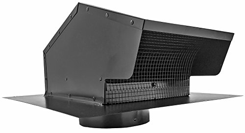 Builder's Best 012633 Galvanized Steel Roof Vent Cap with Removable Screen & Damper, 6