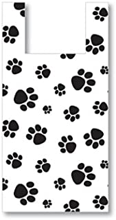 Sprinkles Gifts 50 PAW Paw Prints Bags + Gift Card Bag Dog Animal Pet Store Vendor Shopping Merchandise Plastic 25% Recycled T Sack Small 8x5x18