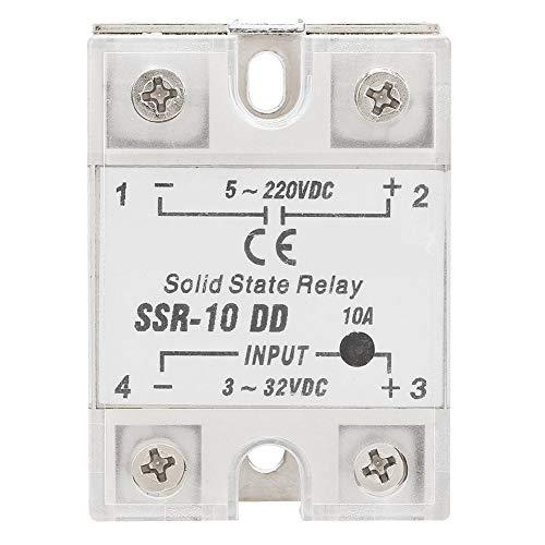 Halbleiterrelais SSR-10 DD, 10A 5-220V DC Halbleiterrelais Modul Zwei Wege SCR Typ für industrielle automatisierte Steuerfelder