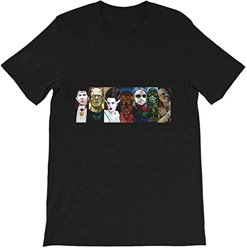 Monster Squad Dracula Vampire Bela Lugosi Frankenstein Boris Karloff Funny Gift for Men Women Girls Unisex T-Shirt,Black,XX-Large
