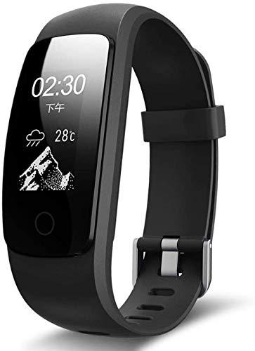 Relojes- SmartWatch Pulsera de Fitness Impermeable con presión Arterial Tasa de corazón Monitor de sueño Pedómetro Remoto Control de cámara Pulsera para Hombres Damas-A Baifantastic