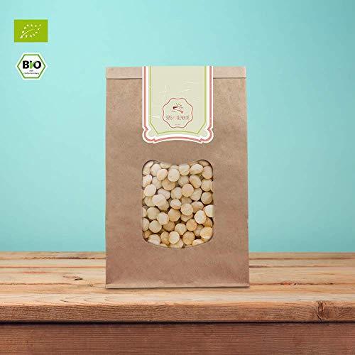 süssundclever.de® Macadamianüsse Bio | 1kg | Macadamiakerne | Premium Qualität | hochwertiges Naturprodukt | plastikfrei abgepackt in ökologisch-nachhaltiger Bio-Verpackung | Macadamia