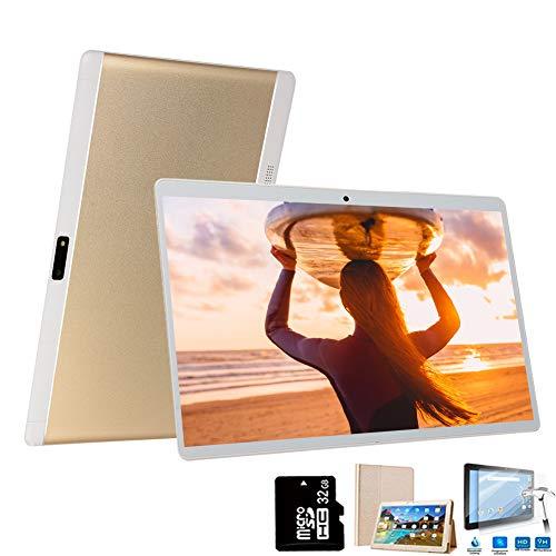 4G Tablette 10 Pouces 64Go,3Go RAM Android 8.1 Tablette Tactile Double Caméra Doule SIM/WiFi/Google Play/Office/Netflix/GPS/OTG/Bluetooth Tablet PC Voukou(Or)